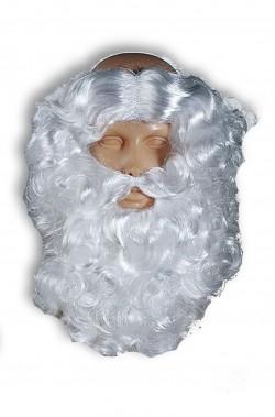 Set Babbo Natale Parrucca Contorno Testa Barba e Baffo