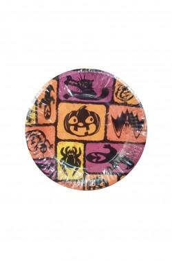 Piatti Party carta arancioni 8 piatti, 17cm