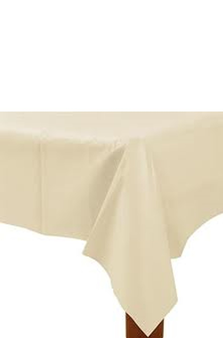 Tovaglia plastica color bianco vaniglia