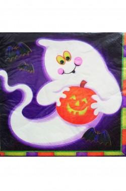 Tovaglioli party carta Halloween fantasma 33x33cm 20pezzi