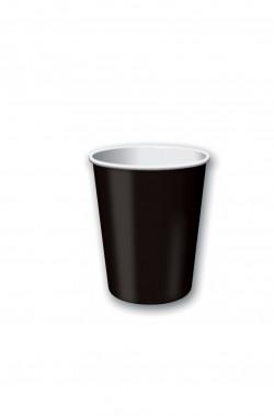 bicchieri party neri ml 266 10 pezzi