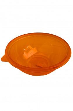 Piatti Party carta ondulati arancioni, 5 piatti, 32cm