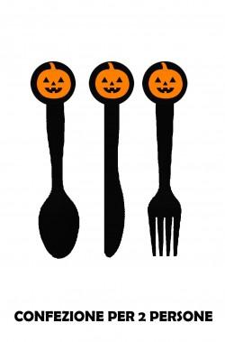 Set di posate halloween nere corte for Posate nere