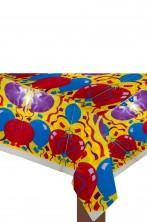 Tovaglia Party Plastica gialla con palloncini 137cmx182cm