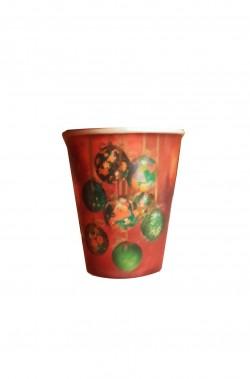 Natale Party Rosso Palle di Natale Piatti in carta 10pzx18cm