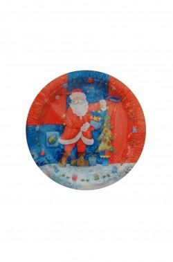Natale Party Rosso Babbo Natale Piatti in carta 10pzx23cm