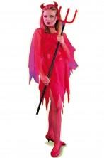 Costume Halloween Adulta Diavola Diavolessa Diavoletta media lunghezza