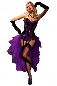 Corsetto nero e viola burlesque