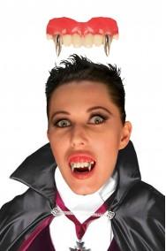 Dentiera rigida canini vampiro elegante argento