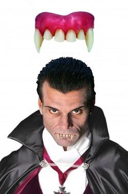 Dentiera rigida vampiro solo sopra + di 14 anni con bicomponente