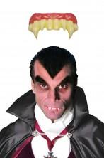 Dentiera rigida da vampiro con doppi canini