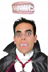 Dentiera morbida per vampiro per maggiori di 15  anni senza colla