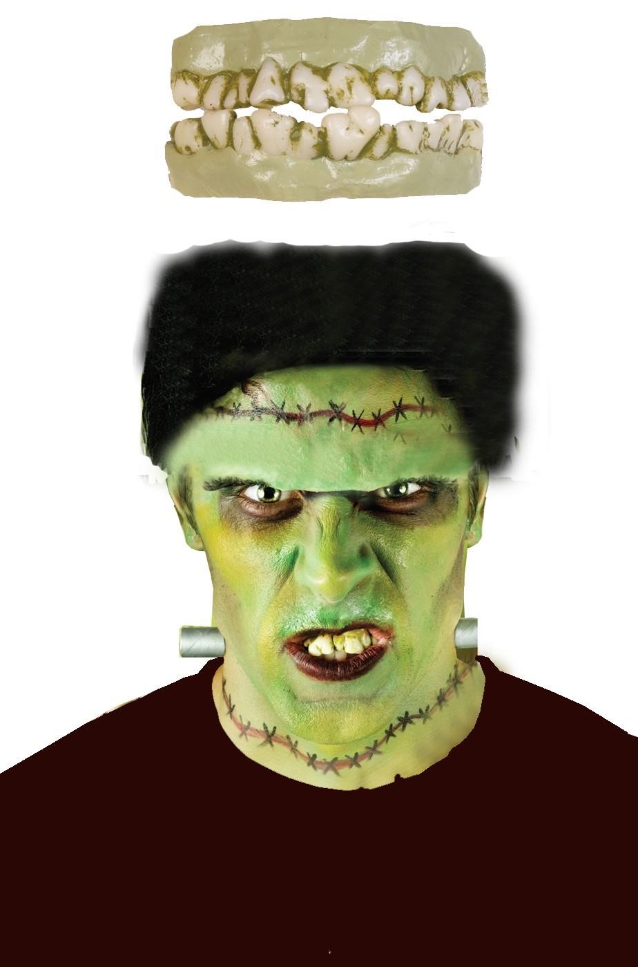 Dentiera Horror Zombie o Mostro per Halloween da adulto f0a079d0db10