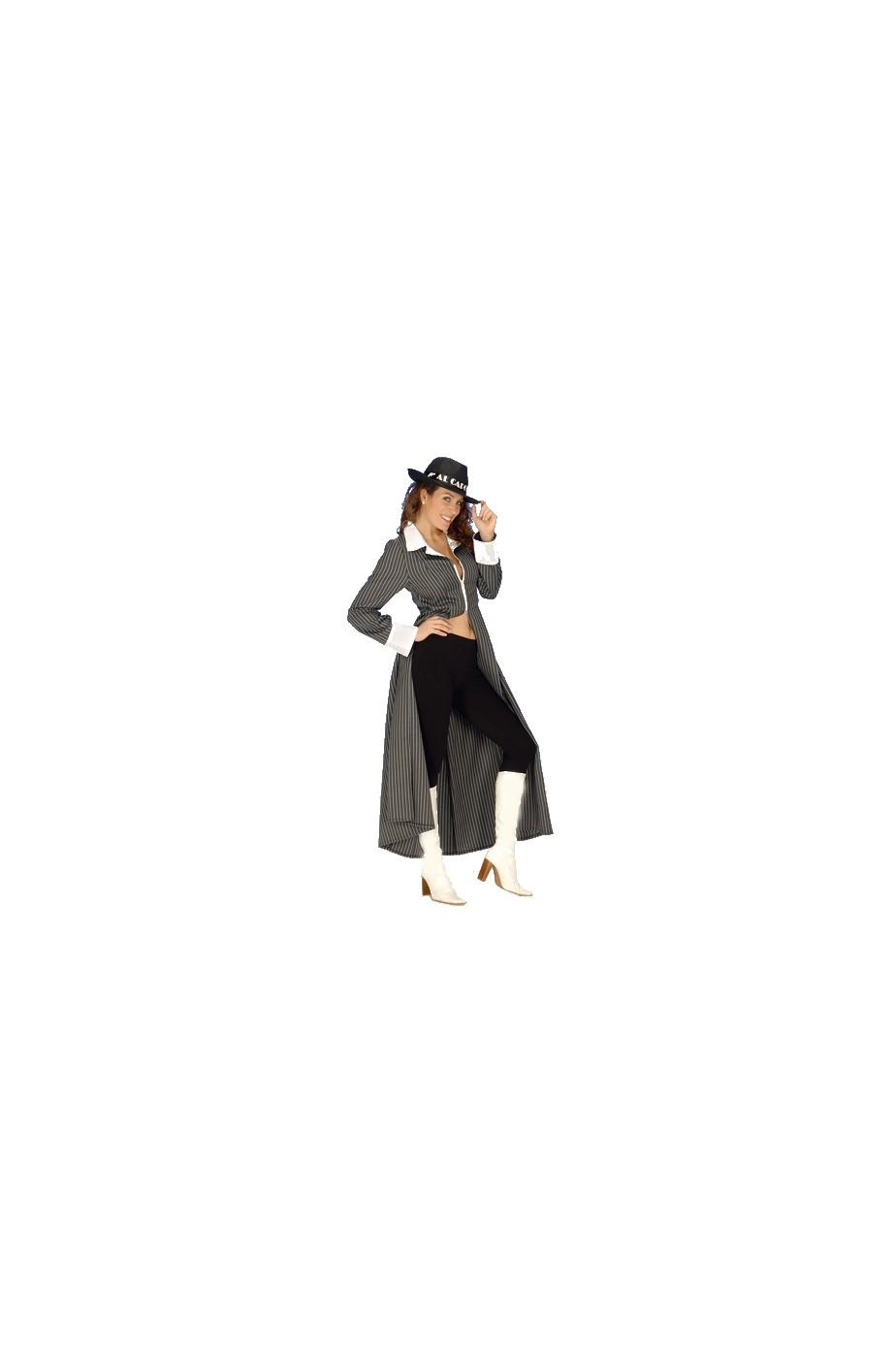 Cappotto gangster charleston gessato donna