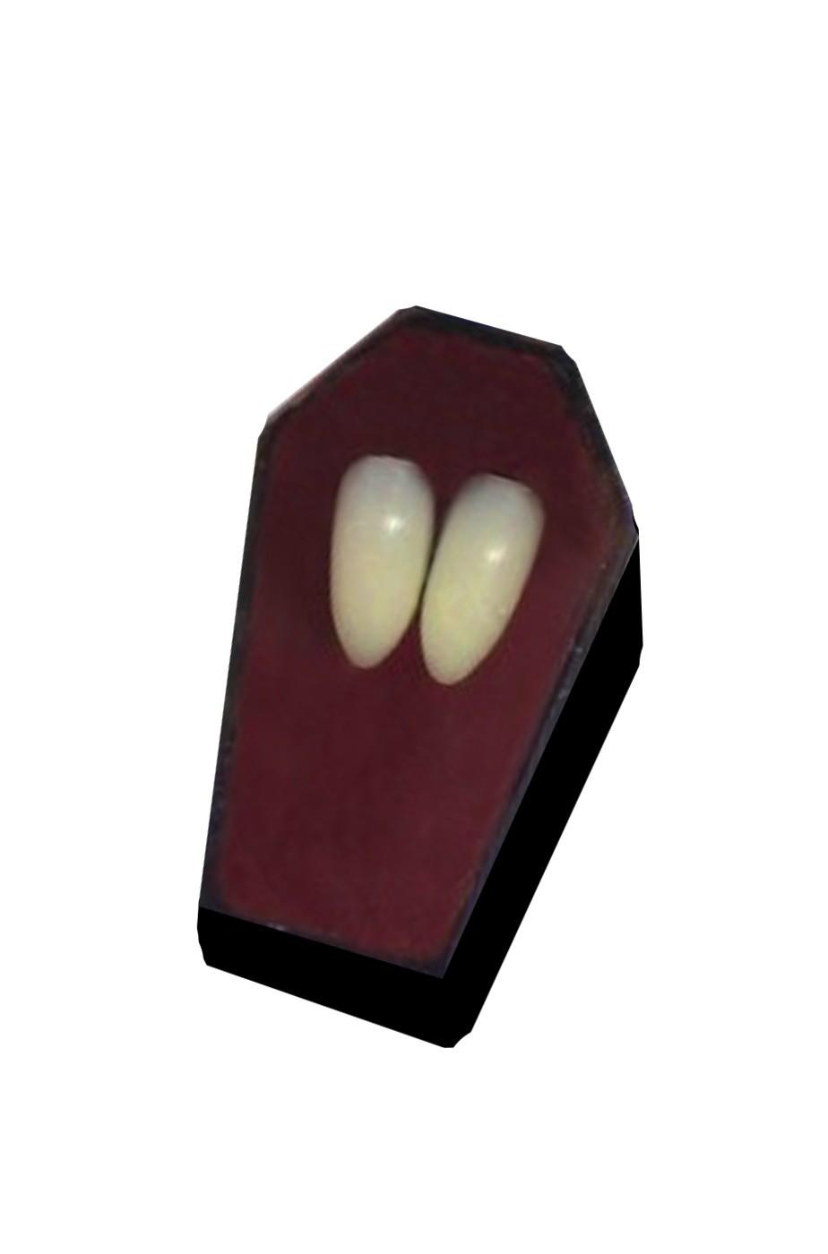 coppia di denti finti singoli per travestirsi da vampiro o dracula 0faef4d69c70
