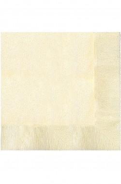 Vaniglia Party Tovaglioli in carta  color vaniglia 33x33