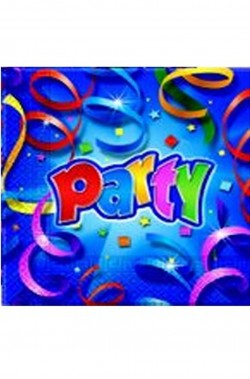 Prismatic Party Tovaglioli di carta  blu 20pz 33x33