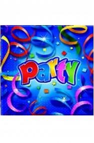 Prismatic Party Tovaglioli di carta  blu 20pz 33x33