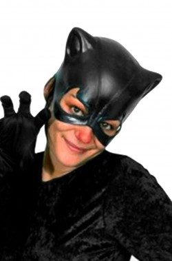 maschera catwoman bat girl in pvc
