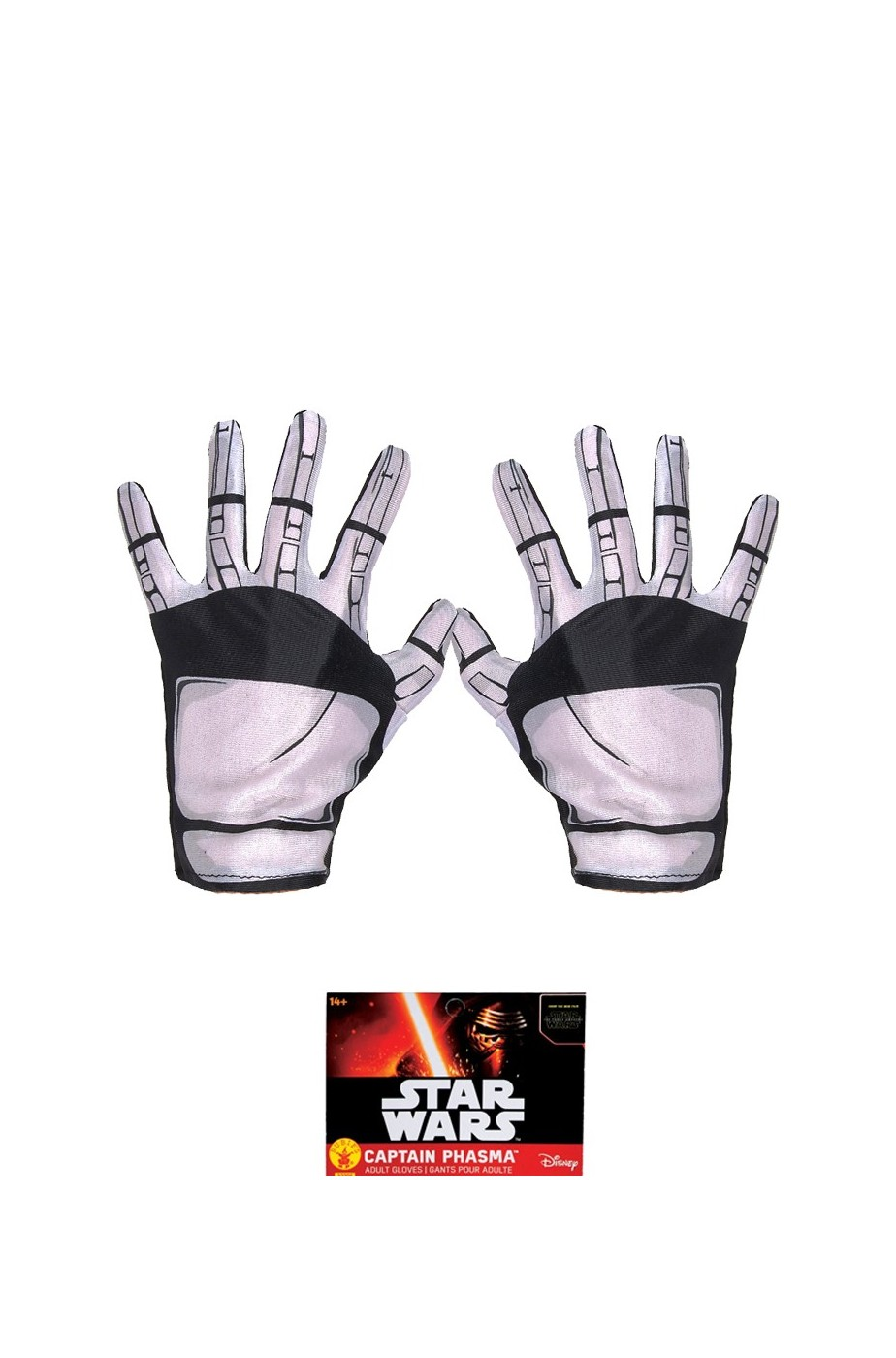 Guanti Cap.Phasma Trooper Adulto Star Wars Ep.7 Robot Androide