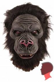 Maschera gorilla in lattice con bocca chiusa