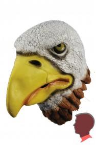 Maschera aquila bianca testa intera in lattice