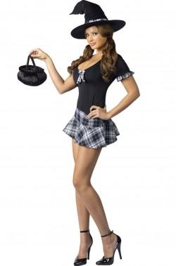 Costume donna sexy Streghetta scolara