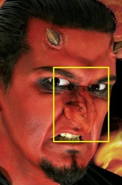 Naso finto diavolo o mostro prostetica in lattice teatrale