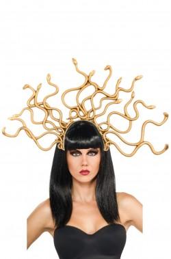 Cappello carnevale con serpenti dea medusa