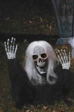 Decorazione Halloween da giardino:scheletro che esce dal terreno 53cm!NERO