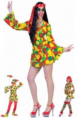 Costume donna anni 70 Flower power INCLUDE SOLO VESTITO