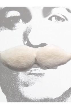 Trucco: Baffi finti folti spessi bianchi bushy