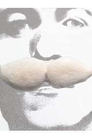 Baffi finti folti spessi bianchi bushy