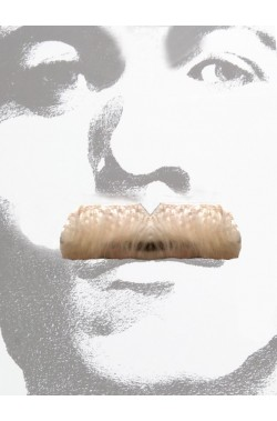 Baffi finti a spazzola biondi Gent Menjou