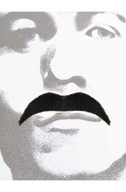 Trucco: Baffi finti a punta neri Anni 70 Messicano Gangster