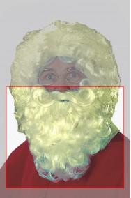 Barba Babbo Natale riccia biondo champagne bellissima lunga circa 23 cm