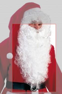 Barba Babbo Natale Lunghissima Riccia Bianca