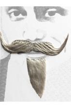 Trucco: Barba e baffi a pizzetto finti moschettiere. Pizzetto e baffo a manubrio grigio Boheme