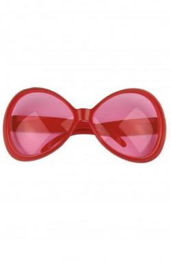 Occhiali montatura grande a maschera Anni 70 rosa