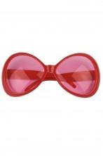 Occhiali montatura grande a maschera Anni 70 rossi