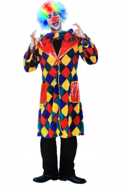 Giacca unisex clown patchwork multicolore