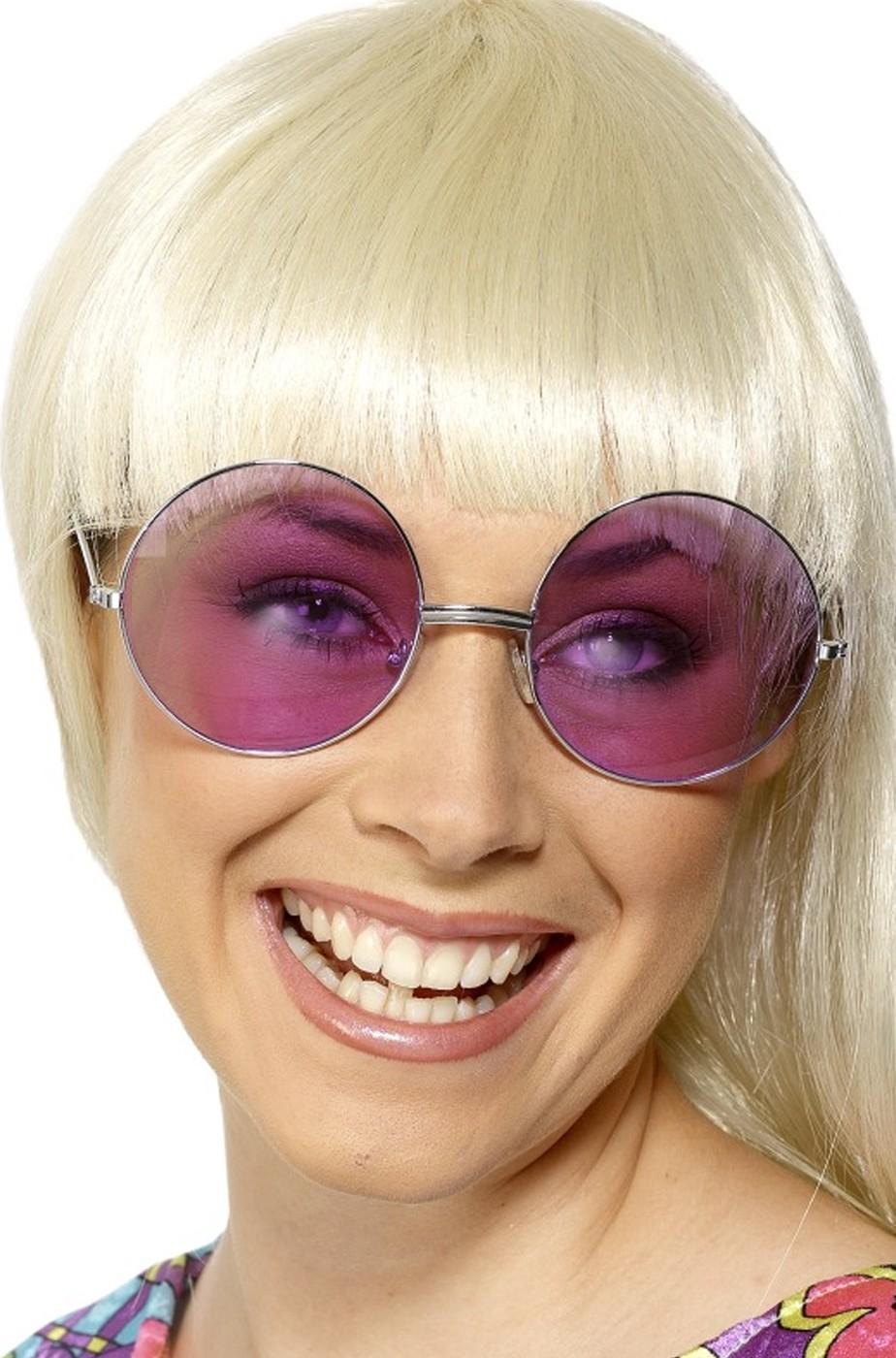 Occhiali anni 70 grandi rosa