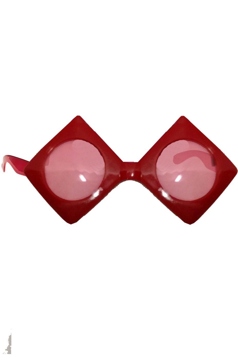 Occhiali anni 70 rossi