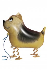 Animaletto gonfiabile che cammina: cagnolino fox terrier