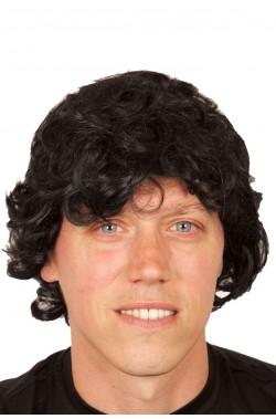 Parrucca uomo corta nera