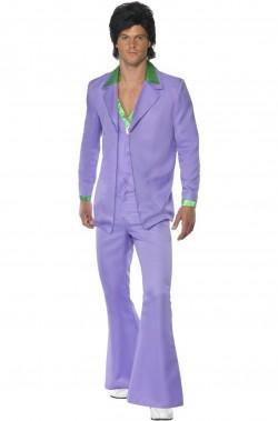 Vestito da uomo Anni 70 Viola