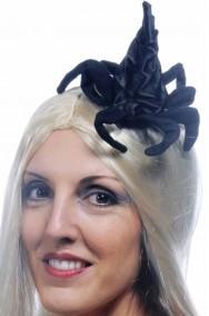 Cappello strega con cerchietto e zampe di ragno