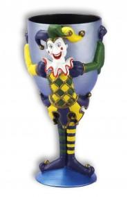 Bicchiere Calice in plastica con Joker