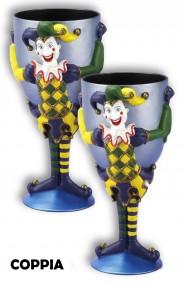 Bicchiere Calice in plastica con Joker Coppia