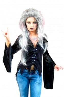 Camicia donna nera strega burlesque